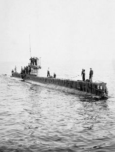 NAVAL CAREER COMMANDER F H GOODHART DSO RN (HU 57612)   The British submarine E 8 returning from patrol in the summer of 1916.