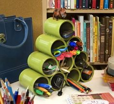 Get it Together: 18 DIY Desk Organizers | diycandy.com
