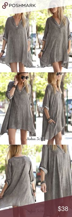 Trendy tunics This tunic is so adorable in person and flattering for all shapes. It can be worn as a dress or top - 100% Rayon Challis - Price is firm. S(2/4) M(6/8) L(10/12) Tops Tunics