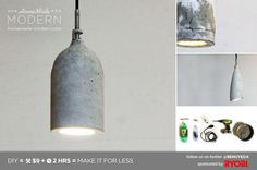Picture of HomeMade Modern DIY Concrete Pendant Lamp