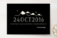 Retro Plates Save The Date Cards by Rebecca Bowen at minted.com