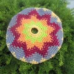 What's a coozie? you ask. A Coozie is a soft flying disc, not unlike the classic Frisbee Disc. As you may recall, I found a pattern at Lion Brand's website the other day. I made my first one yest...