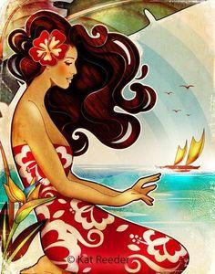 kat reeder...love the way she illustrates women