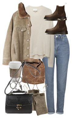 """""""Untitled #9938"""" by nikka-phillips ❤ liked on Polyvore featuring Topshop, 3.1 Phillip Lim, Acne Studios, Dr. Martens, GANT, H&M and CÉLINE"""