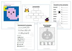 Speciaal voor de kinderboekenweek van 2017: een woordzoeker, husselwoorden, geheimschrift, elfje en een honderdtabel voor de bovenbouw