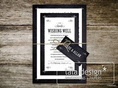 Chalkboard bundle graphic wedding invitation