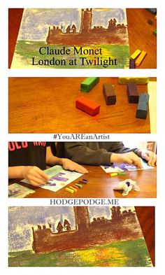 Pastels can be used with great freedom to give your Impressionistic paintings that dreamy, slightly smudged look! Like we will do in this Claude Monet London at Twilight Chalk Pastel Art. Chalk Pastel Art, Chalk Pastels, Impressionist Paintings, Claude Monet, Artist Art, Art Tutorials, Art Lessons, Art History, Twilight
