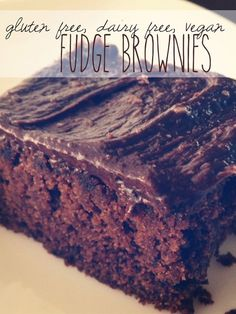Gluten Free, Dairy Free, Egg Free, Vegan Fudge Brownies