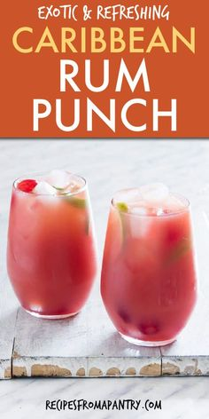Rum Punch Cocktail, Rum Cocktail Recipes, Cocktail Movie, Cocktail Shaker, Rum Punch Drink, Tropical Drink Recipes, Wine Punch, Frozen Drink Recipes, Cocktail Drinks