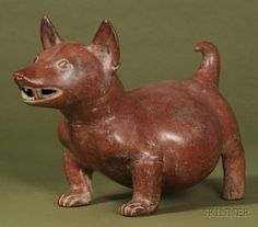 4: Pre-Columbian Pottery Dog, Colima, c. 100 B.C.-250 A : Lot 4