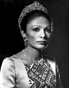 Weekend Bonus: The Noor-ol-Ain Tiara   A Tiara a Day- Farah Pahlavi (born 1938), the former empress of Iran, wears the Noor-ol-Ain Tiara
