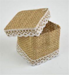 Bomboniere Square Hessian Box