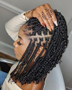 Box Braids Hairstyles For Black Women, Braids Hairstyles Pictures, Cute Braided Hairstyles, Black Girl Braids, African Braids Hairstyles, Braids For Black Hair, Black Hair Braid Hairstyles, African Hair Braiding, Natural Black Hairstyles