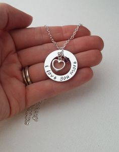 Anniversary Necklace / I Love You More Necklace - Sterling Silver Anniversary Gift - love necklace -