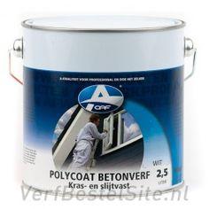 Polycoat Betonverf / Vloercoating is een kras-, stoot- en slijtvaste verf voor steenachtige ondergronden, zoals betonvloeren, zandcementvloeren, stenen muren, garagevloeren, etc.