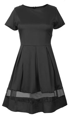 Take this black classic with fast free shipping Now! This mesh sheer splicing dress is perfect for all kinds of occasional looks! Pick it up Today at Cupshe.com