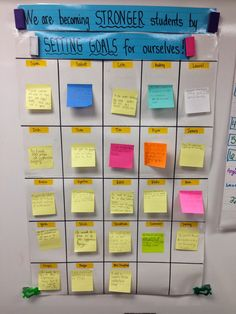 Reflections of an Intentional Teacher: Goal Setting in the Classroom