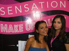 Da destra la candidata Sacco Maria in compagnia della sua modella che esibisce il trucco appena completato!