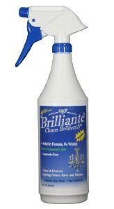 Brilliante Crystal Chandelier Cleaner Manual Sprayer 32oz Environmentally Safe, Ammonia-free, Drip-dry Formula, Made in USA