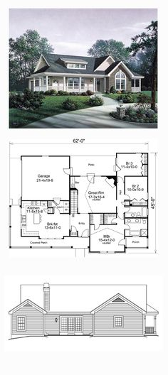 Best Selling House Plan 87811 | Total Living Area: 1591 sq. ft., 3 bedrooms and 2 bathrooms. #bestselling