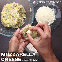 corn cheese balls recipe | how to make sweet corn & veg cheese balls Veg Cheese Balls Recipe, Cheese Ball Recipes, Snack Recipes, Aaloo Recipe, Paneer Cheese, How To Make Corn, Corn Cheese, Paneer Recipes, Sweet Corn