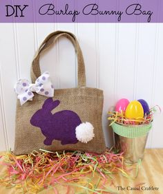 If you have been following me for awhile now, you already know I LOVE my DIY burlap projects. This little DIY Burlap Bunny Bag is great for Easter!  Growing up my family and I always dressed up every Sunday for Church but on Easter we took it u