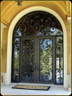 Tuscan Style Wrought Iron Doors Double Iron Doors