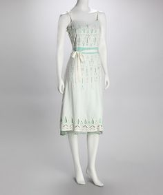 Take a look at this Sage Eyelet Dress by Elegant Eyelet: Summer Separates on #zulily today!