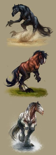 - I'd ride one into battle Ive never imagined dino horses tfoeee XDIve never imagined dino horses tfoeee XD Mythical Creatures Art, Mythological Creatures, Magical Creatures, Creature Concept Art, Creature Design, Fantasy Beasts, Fantasy Art, Creature Drawings, Arte Horror