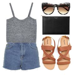 Untitled #300 by cigerett on Polyvore featuring polyvore, fashion, style, Topshop and Aspinal of London
