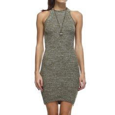Nwt Sleeveless Olive Sweater Dress By Tea & Cup