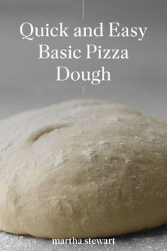 Our homemade pizza crust comes together quickly using just a few ingredients and enough time for it to rise, and it's done! Use this tasty pizza dough as a base for your favorite slice and have an at-home pizza night. #marthastewart #recipes #recipeideas #dinnerrecipes #dinnerideas #familydinner Top Recipes, Pizza Recipes, Dinner Recipes, Pizza Heaven, Best Homemade Pizza, Deep Dish, Few Ingredients, Pizza Dough, Tasty