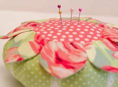 Wild Flower pincushion by RhubarbPatch, via Flickr