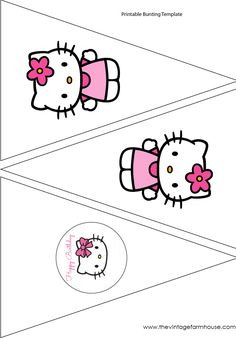 The Vintage Farmhouse: Hello Kitty Party  Free Printables