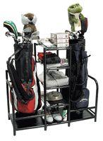 Double golf bags plus 5 shelves via Great Golf Memories #golf