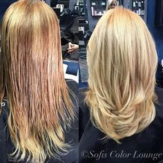 Loving this #beforeandafter #colorandcut by @mariamiranda56 here @sofiscolorlounge 💇🏼 #hair #haircolor #haircut #goldwell #cranford #NJ #njbesthair #sofiscolorlounge