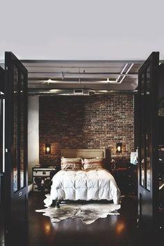 27 MODERN INDUSTRIAL BEDROOM DESIGN INSPIRATIONS | Industrial Bedroom Design,  Industrial Bedroom And White Brick Walls