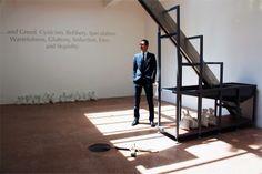 vadim zakharov: danaë installation at the russian pavilion; the 'male chamber'  image © designboom