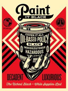 Paint it Black – Shepard-Fairey