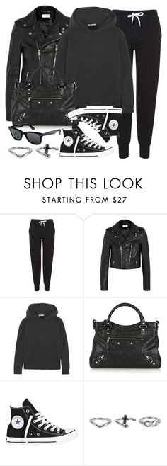 """Style #9459"" by vany-alvarado ❤ liked on Polyvore featuring Topshop, Yves Saint Laurent, T By Alexander Wang, Balenciaga, Converse, Ray-Ban and NLY Accessories"