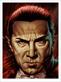 Universal Monsters: Dracula - Art Print by Jason Edmiston