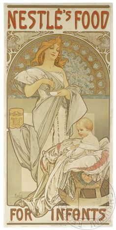 Nestlé´s food for infants by Alfons Mucha, 1897. eSbírky, CC BY