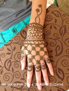 My work in the Sole Shine Henna Body Art booths at the MN State Fair