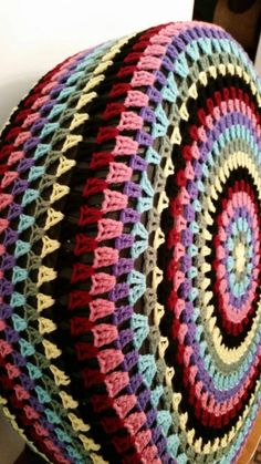 Granny Circle Crochet Spare Tire Cover 027a3a77a6c