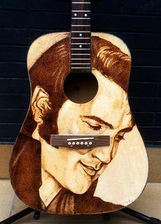 Elvis Presley Guitar Wood BurningBy Enric Delpueblo