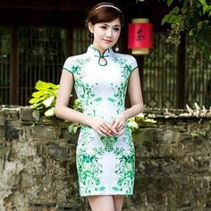 Evening dress green dragon