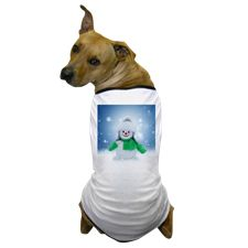 Snowman Wishes Dog T-Shirt
