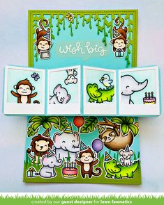 An Awesome Pivot Pop-Up Card by Megan! | Lawn Fawnatics