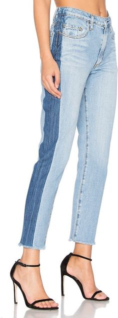 What shoes do you wear with two-toned jeans? Our answer: everything. Try these Nobody Denim skinny pants ($...