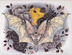 Lace Bat framable print by SleeperHollow on Etsy, $28.00 www.sleeperhollow.com